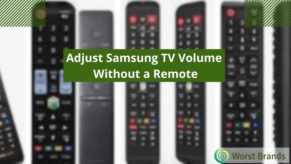 Samsung TV Volume Problems