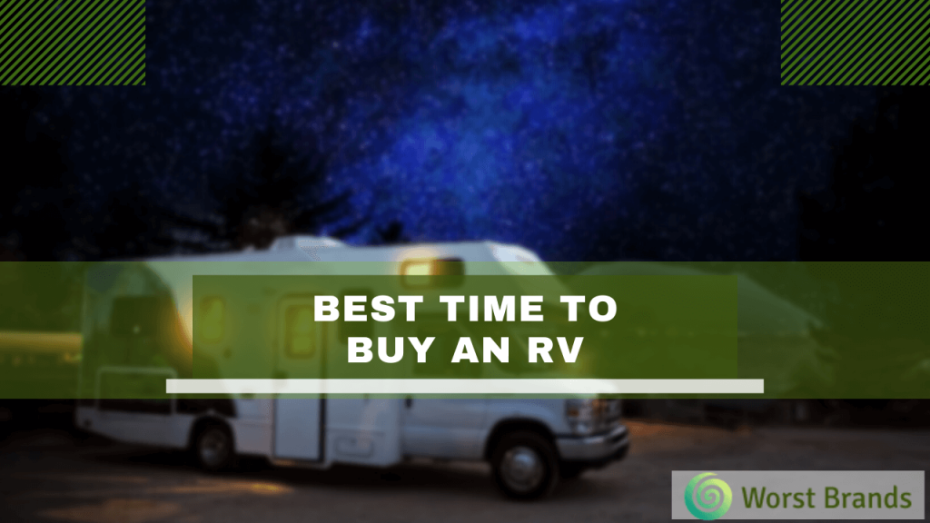 Best Time to Buy an RV