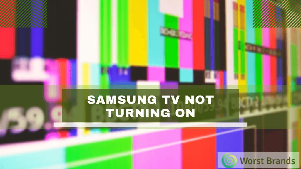 Samsung TV Not Turning On