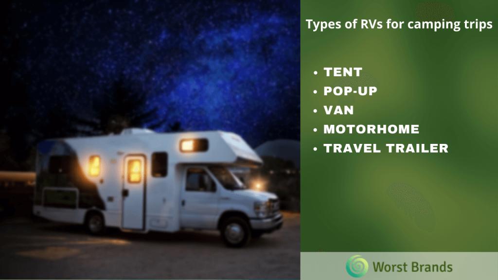 Types of RV & Travel Trailer